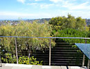 Terrestrial view from a residential deck with vegetation below